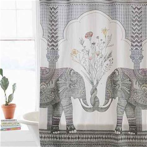 elephant shower curtain magical thinking elephant shower curtain from outfitters