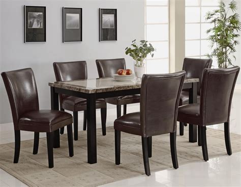 Dining Room Table Sets Leather Chairs Home Deco Plans