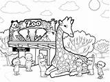 Zoo Coloring Pages Animals Printable 321coloringpages sketch template