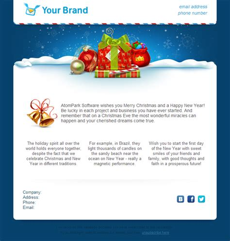 christmas email templates     atompark