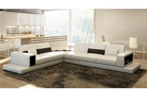 canapé d angle loft canapé d 39 angle en cuir italien 6 7 places loft blanc