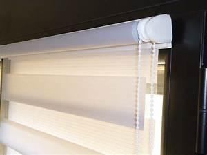 Sécurité Fenêtre Bébé Sans Percer : store enrouleur sans percer jour et nuit 80x160cm gris ~ Premium-room.com Idées de Décoration