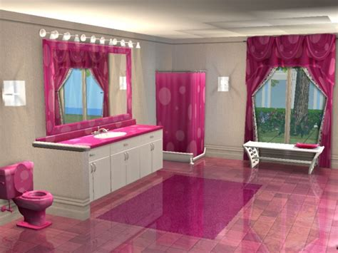 Mod The Sims   Kimmie Collection: Pink Polka Dot Bathroom