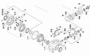 Arctic Cat Side By Side 2008 Oem Parts Diagram For Front Drive Gearcase Assembly