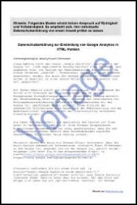 google analytics einbinden  datenschutz