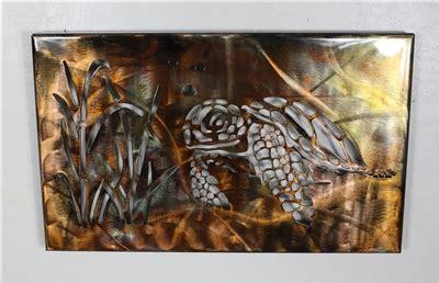 metal art canvas turtle