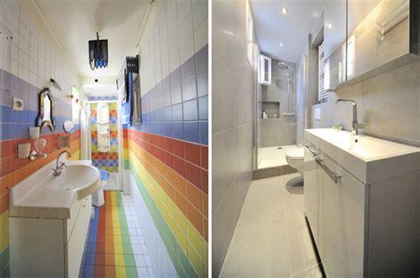 salle de bain longue et etroite nouveau look pour une nouvelle vie d un deux pi 232 ces galerie photos d article 15 18