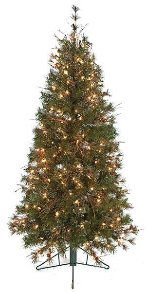 slim artificial christmas trees with or without lights
