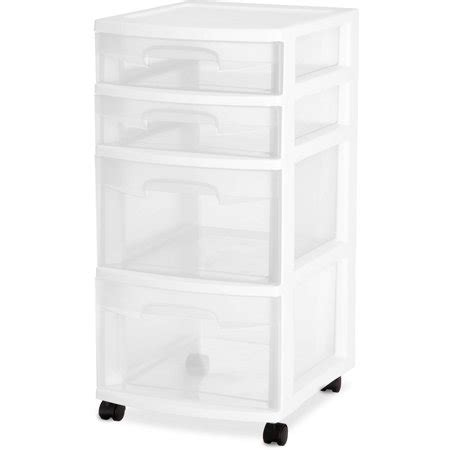 sterilite 5 drawer cart sterilite 4 drawer cart white of 2 walmart