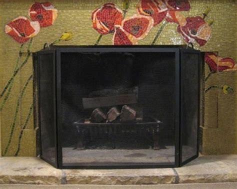 fireplace surround poppy tile mosaic fireplace surround mosaic