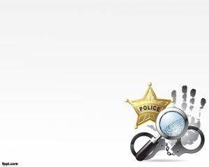 free police ppt powerpoint templates csi badge With free law enforcement powerpoint templates