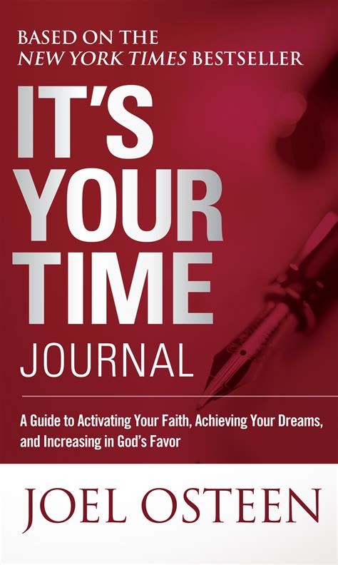 time journal book  joel osteen official publisher page simon schuster