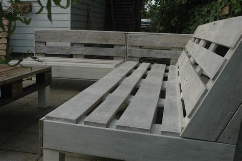 tuinbank van pallets loungebank van pallets voordemakers nl