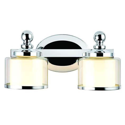 hton bay vanity light hton bay levan 2 light chrome vanity sconce 173352 15