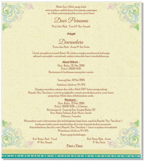 setting undangan pernikahan blanko erba