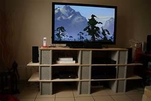 Meuble Tv Parpaing Meuble Tv Dit Parpaing Et Bois Id E Meuble Tv
