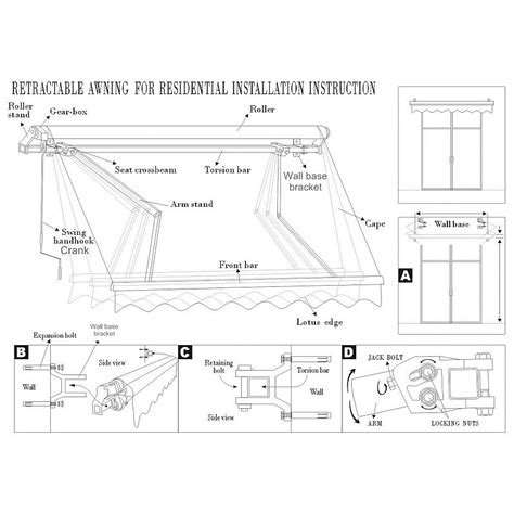 retractable folding arm awning  beige  sizes buy door window awnings