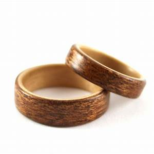 birch and mahogany wooden wedding ring pair harestree With wedding ring pair