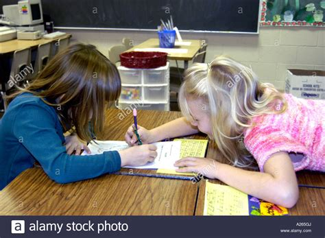 grade elementary students working   group