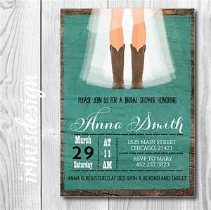 rustic cowgirl bridal invitation country bridal shower With country wedding shower invitations