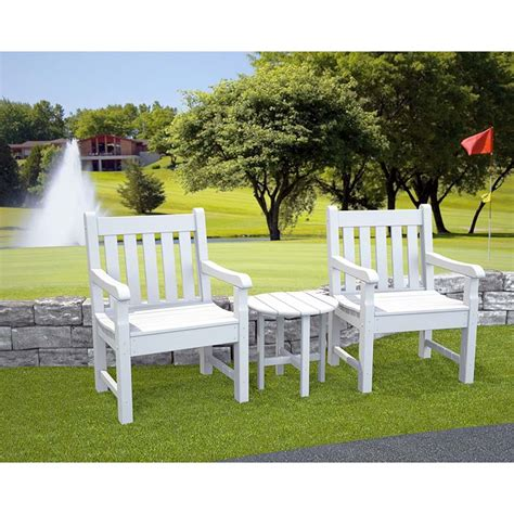 polywood rockford dining arm chairs for porch patio pool