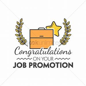 Congratulations on your job promotion Vector Image ...