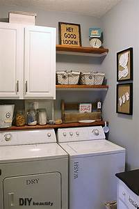 laundry room storage Farmhouse Modern Laundry Room Reveal | DIY beautify