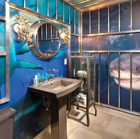 Under The Sea Bathroom Decor With Grey Sink  Your Dream Home