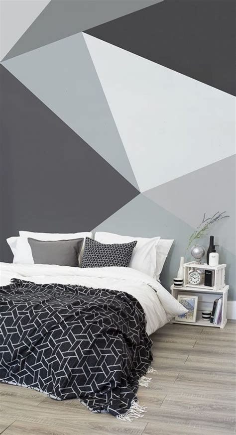 geometric wall ideas  create eye catching accent wall