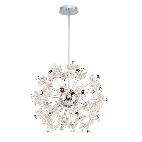 blossom chandelier blossom 37 light chrome chandelier ac7533 the home depot