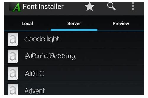 font installer for android free download
