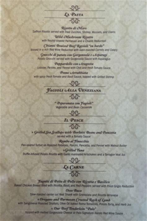 palo menu  disney cruise  blog