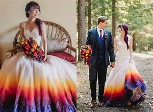 romantic tie dye wedding gown must have to fill colors With tie dye wedding gowns