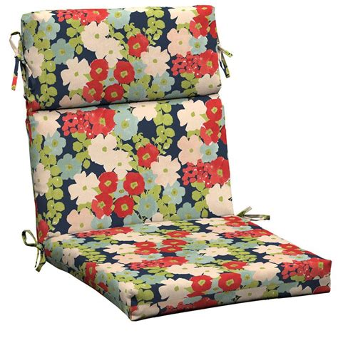 hton bay floral outdoor dining chair cushion