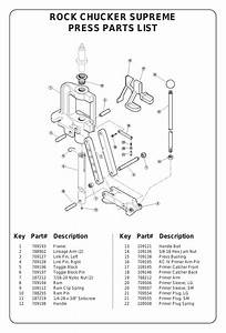 Rock Chucker Supreme Press Parts List  Key Part
