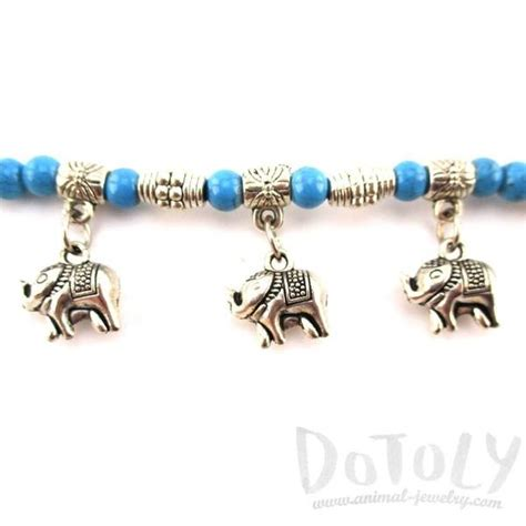 You can choose the period from 7 days up to 1 year. Blue Beaded Elephant Charm Bracelet in Silver | Animal ...