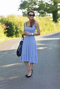 Wearing an Old Favourite | A Blue Striped Summer Dress With Black Accents - Not Dressed As Lamb