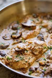 Skillet Chicken with Mushroom Sauce Recipe