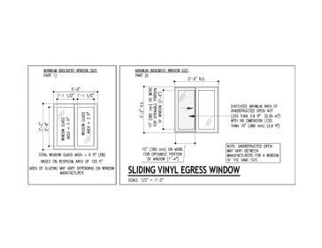 required sizes  basement bedroom window  ontario