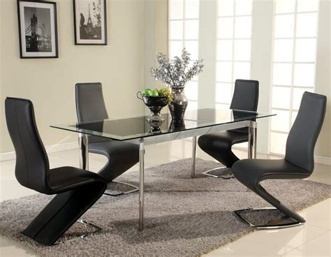 extendable glass top designer modern dining room baltimore