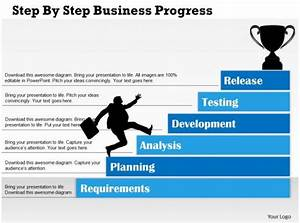 0314 Business Ppt Diagram Step By Step Business Progress