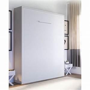 Lit Dans Armoire : armoire lit escamotable joy 2 places 140 x 200 pieds ~ Premium-room.com Idées de Décoration