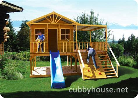redwood lodge cubby house australian made wooden