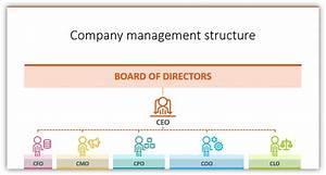 Organizational Chart Coo Cfo Cmo Icons Ppt