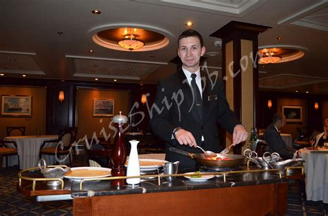 cruises waiter specialty restaurant