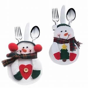 Tischdekoration Zu Weihnachten : besteckhalter filz weihnachten 2er set bestecktasche ~ Michelbontemps.com Haus und Dekorationen