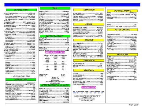 Emergency Checklist Template Pilot one pilot s checklist golf hotel whiskey