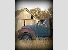Old Truck Barn Cousins, siblings, we had to share the cab