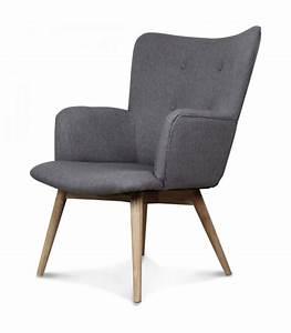 Fauteuil Design Scandinave : fauteuil gris taupe design scandinave ~ Melissatoandfro.com Idées de Décoration