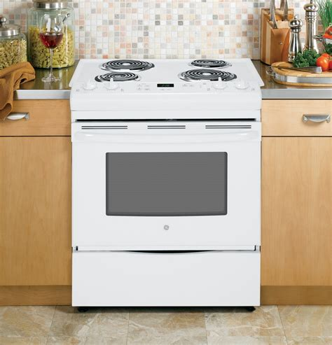 jssdfww ge    front control electric range white